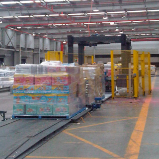 CPS Mancon fully automatic pallet wrapper